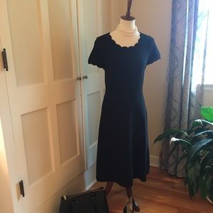 Talbots Black shortsleeved sweater dress